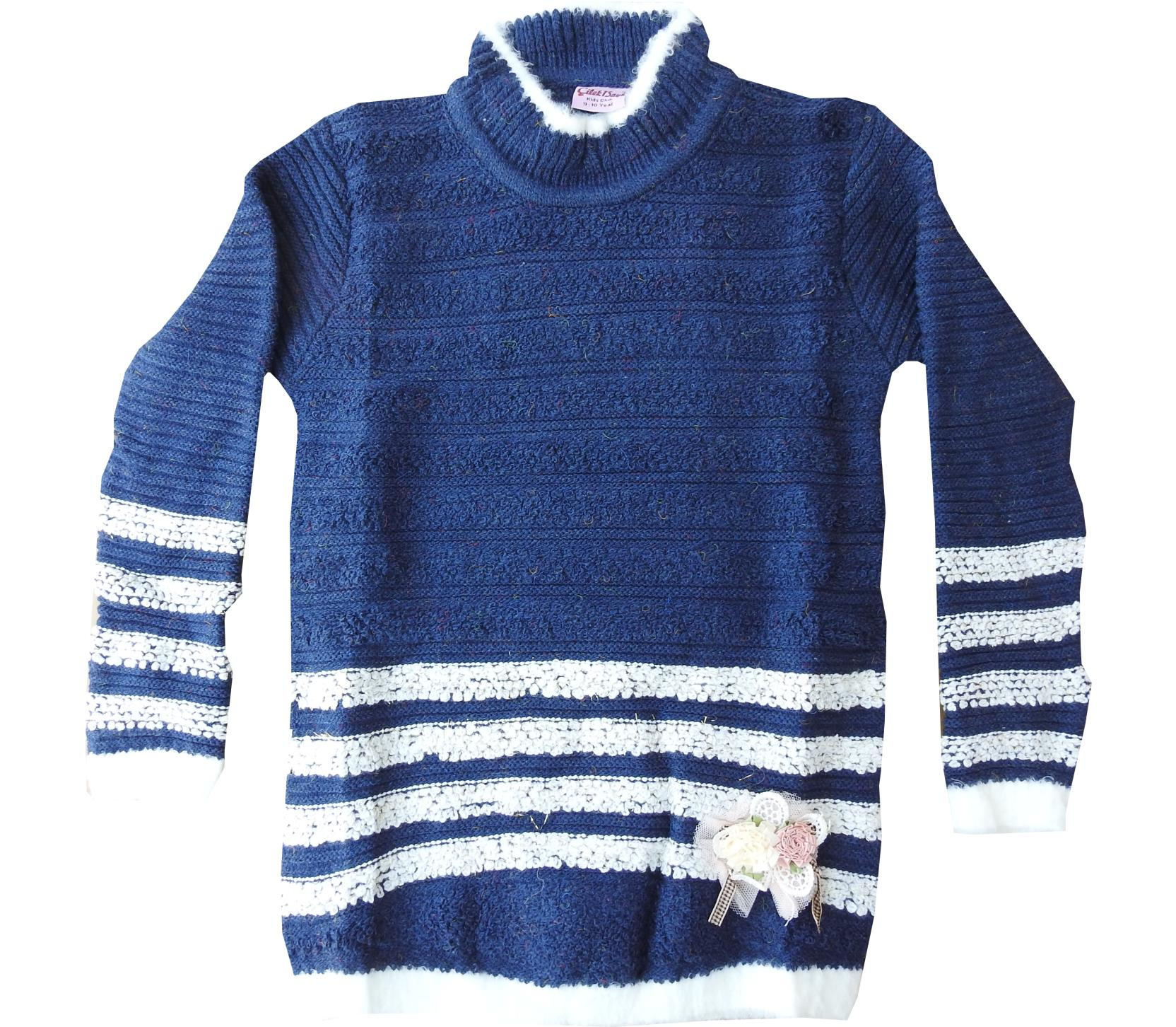 Wholesale knitted sweater for girl (5-7-9 age)