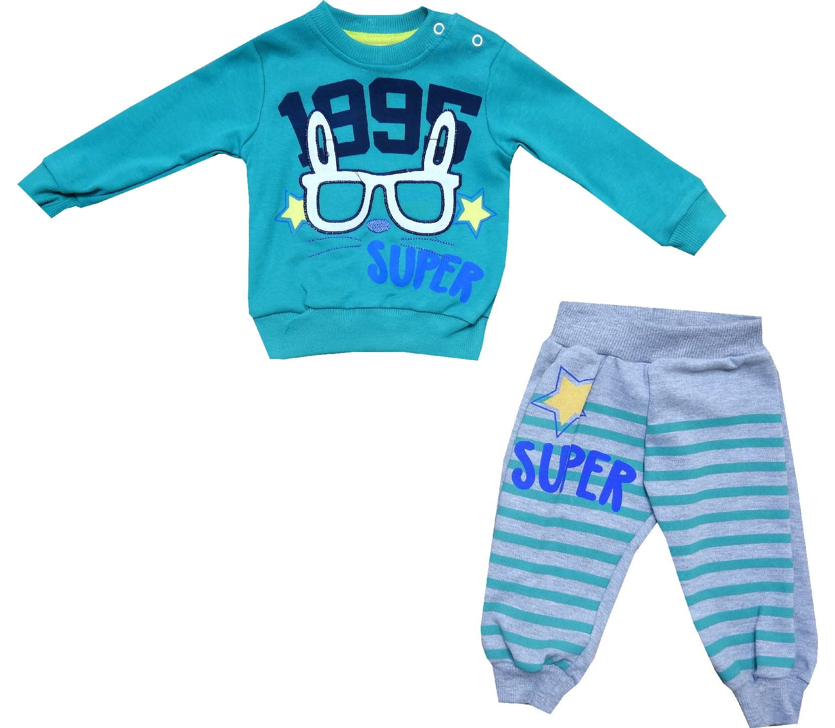 Wholesale 1995 print tracksuit for boy (9-12-18-24 month)