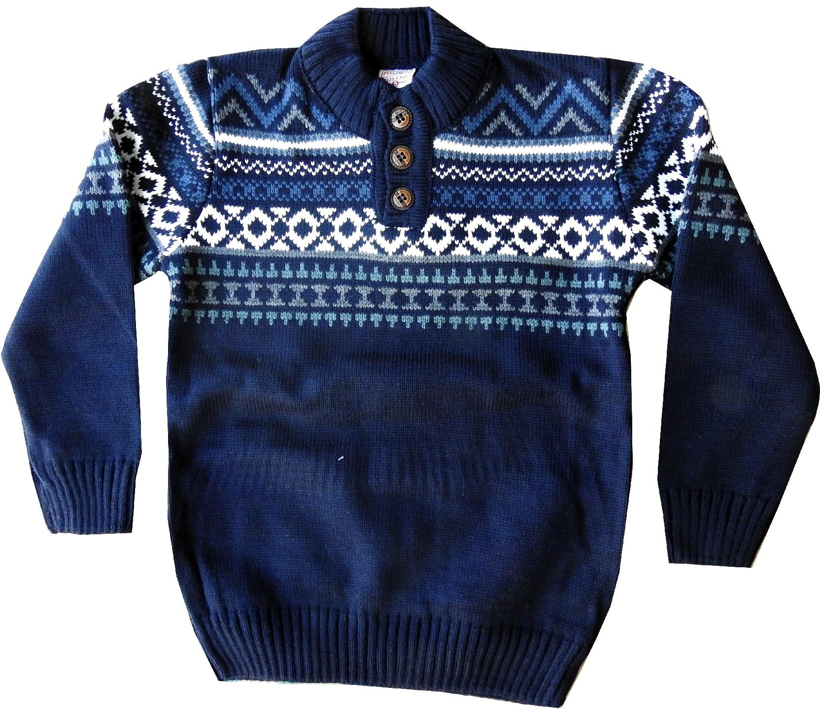 Wholesale embroidery knitted sweater for boy (4-7-10 age)