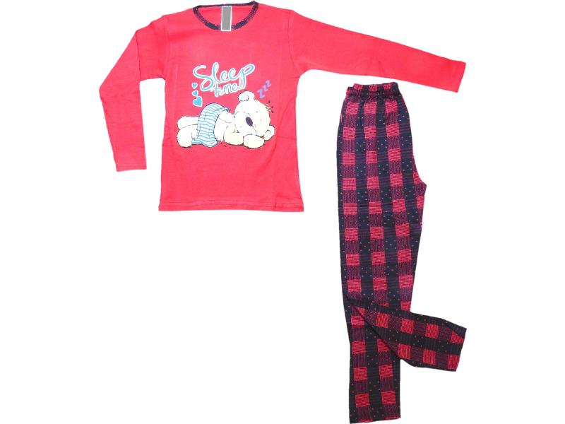 5088 Wholesale sleep time printed pyjama set for girl kids clothes (10-11-12 age)