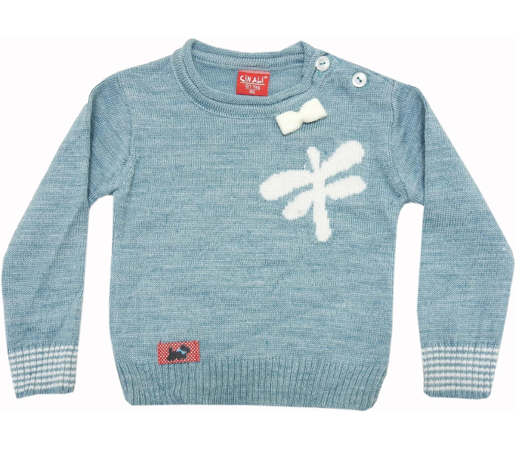 WHOLESALE BUTTERFLY PRINT SWEATER FOR GIRL (1-2-3 AGE)