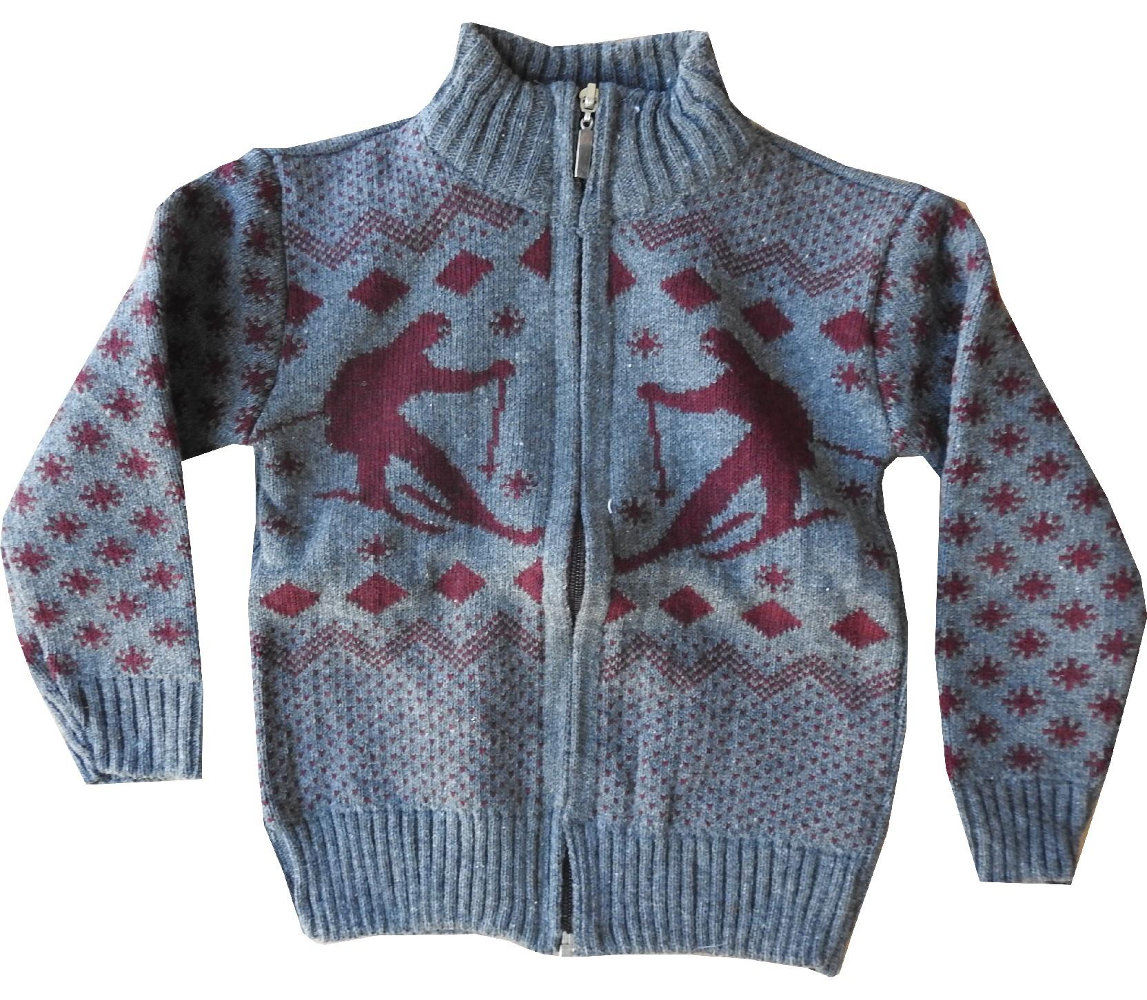 Wholesale zip fastening assorted embroidery sweater for boy (2-4-6 age)