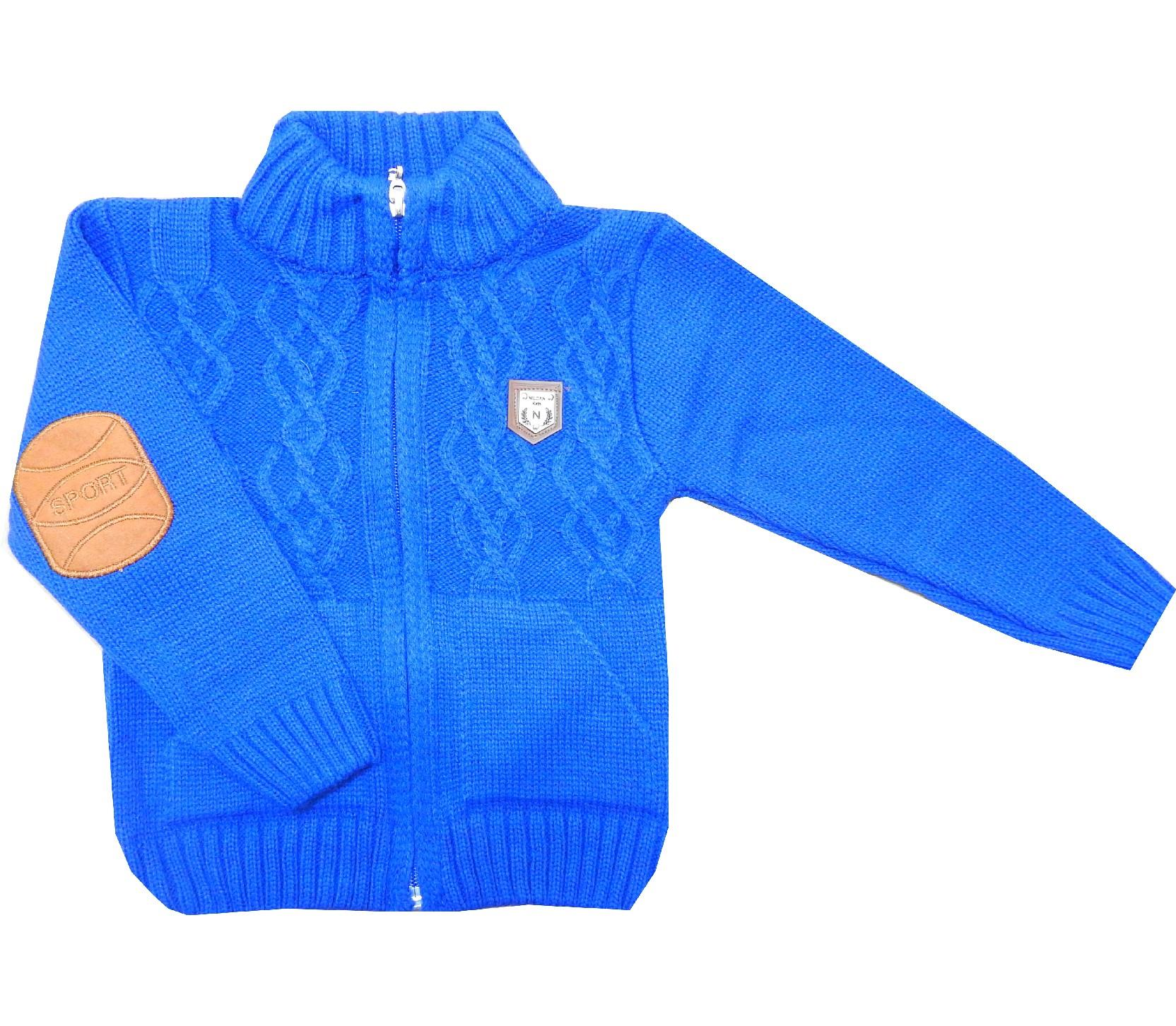 Wholesale elbow patch designed sweater for boy (1-2-3 age)
