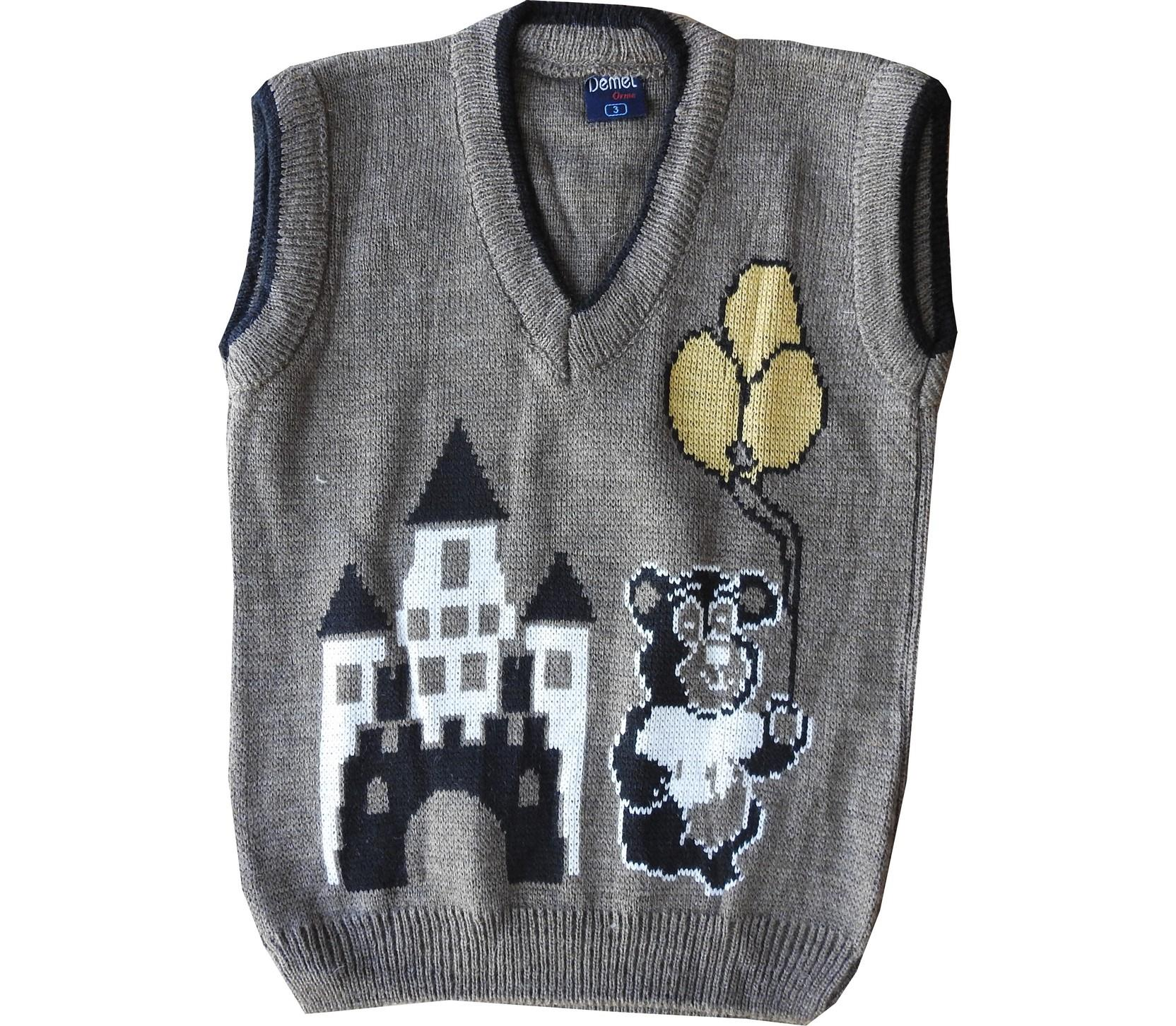 Wholesale fortress knitted sleevless sweater for boy (1-3-5 age)