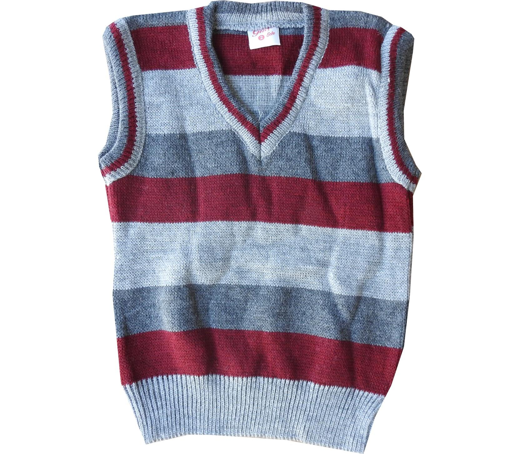 Wholesale striped sleevless sweater for boy (1-3-5 age)