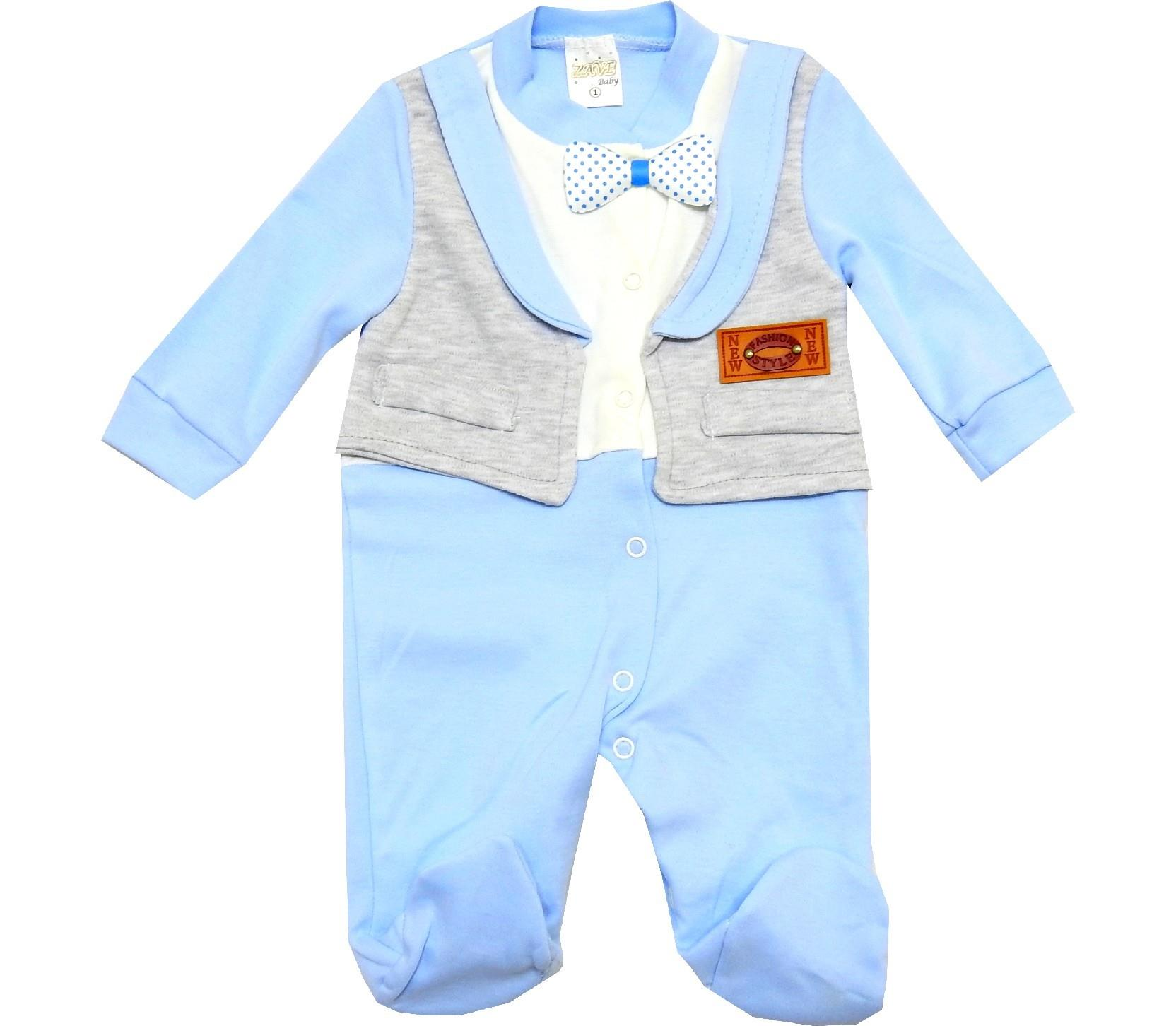 WHOLESALE DECORATIVE WAIST DESIGN BODYSUIT FOR BOY (3-6-9 MONTH)