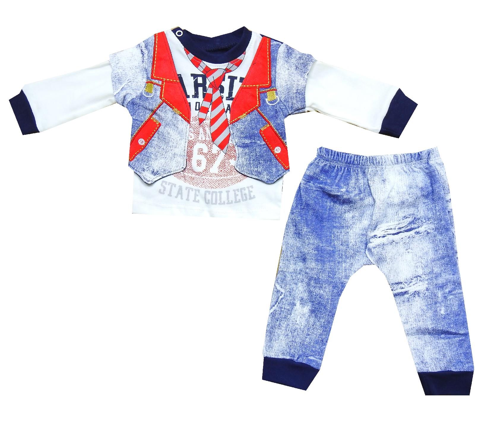 Wholesale decorative jacket design sweat and trouser for boy (3-6-9 month)