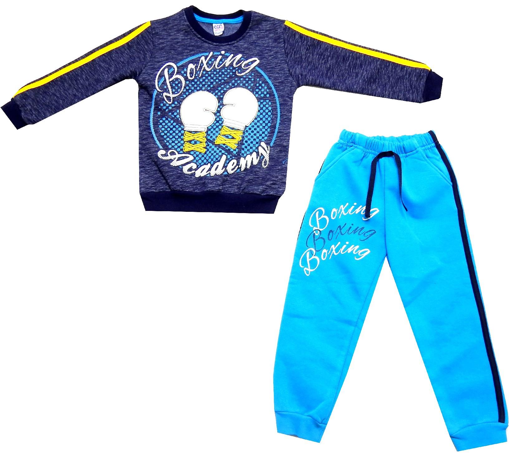 Wholesale boxing academy print sweatshirt and trouser double set for boy (6-7-8 age)