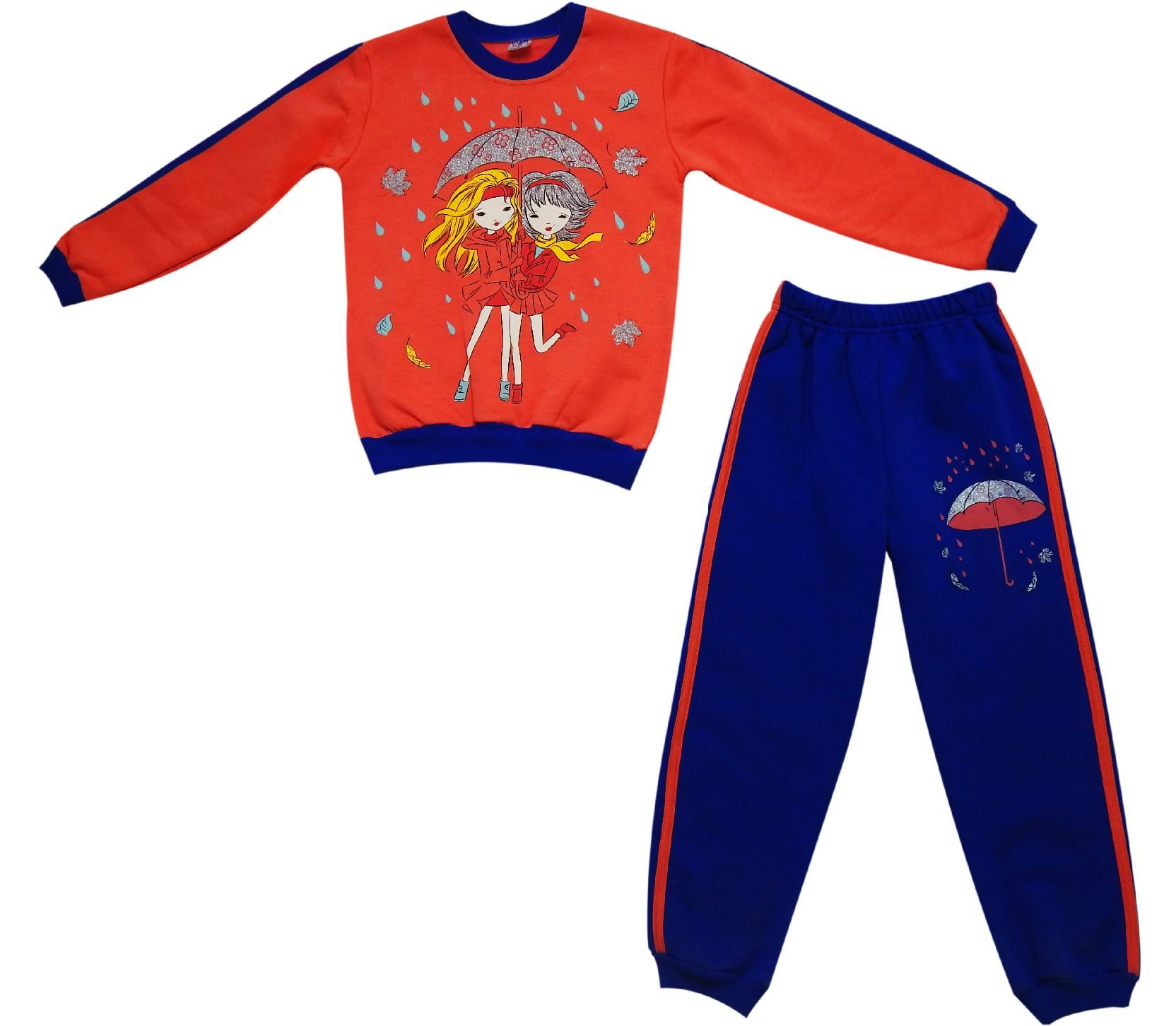 Wholesale girl print sweatshirt and trouser double set for girl (6-7-8 age)