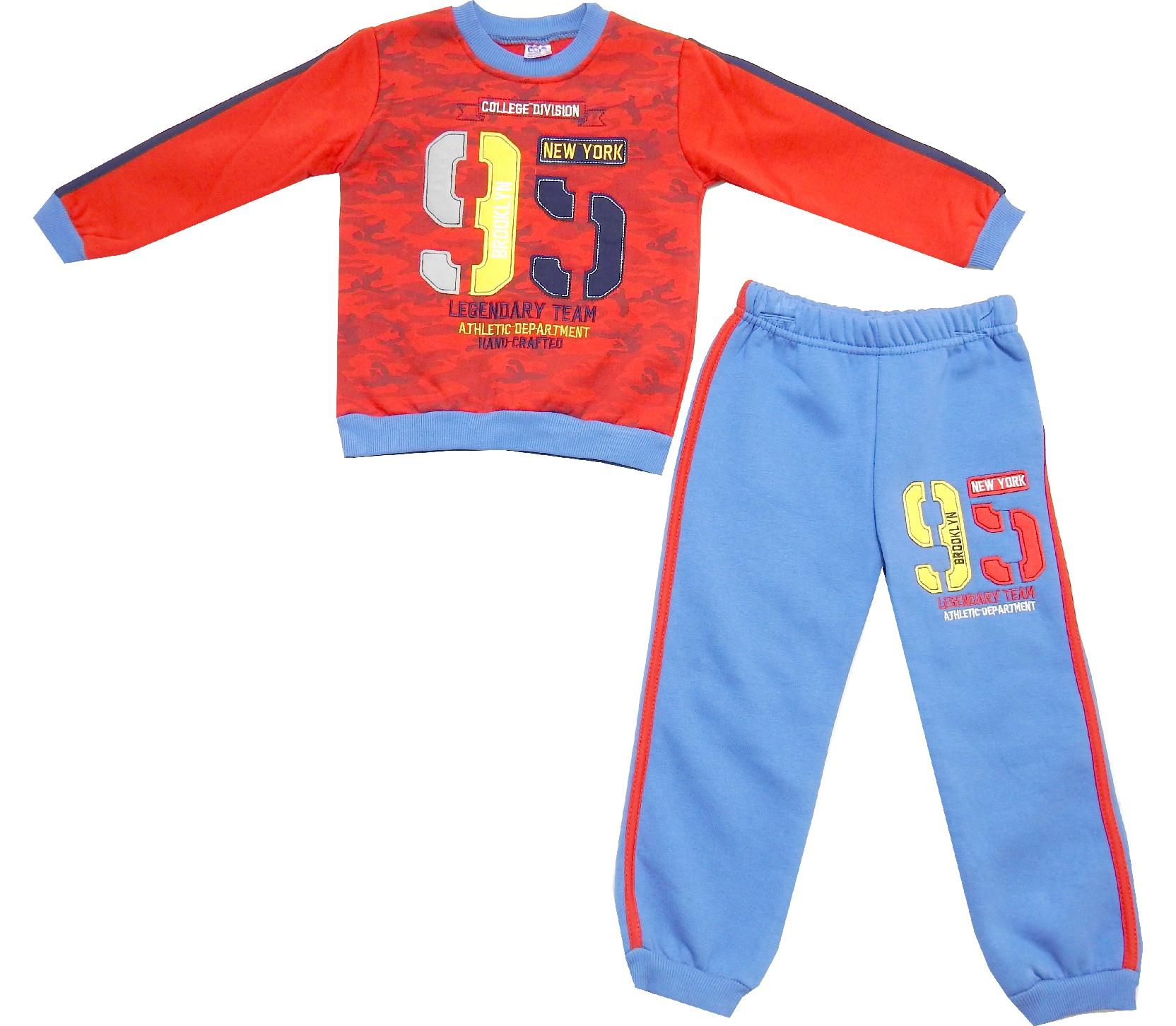 Wholesale 95 print sweatshirt and trouser double set tracksuit for boy (6-7-8 age)