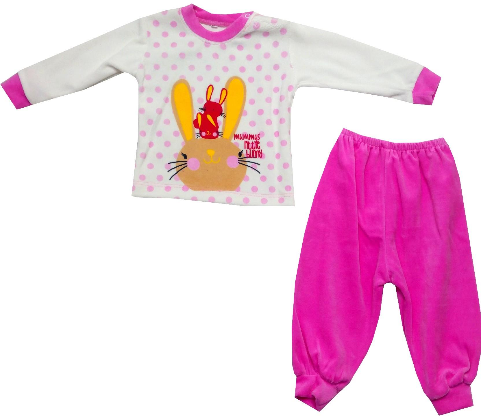 Wholesale rabbit and tiger print track suit for baby (9-12-18 month)