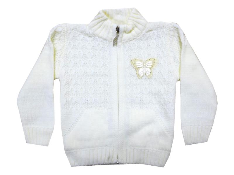 Wholesale butterfly applique knitted sweater for girl (1-2-3 age)