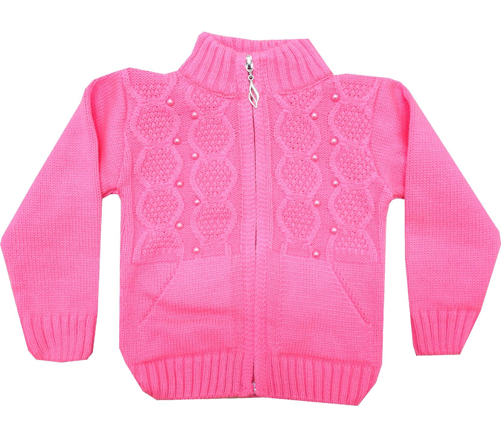 Wholesale pearl applique sweater for girl (1-2-3 age)