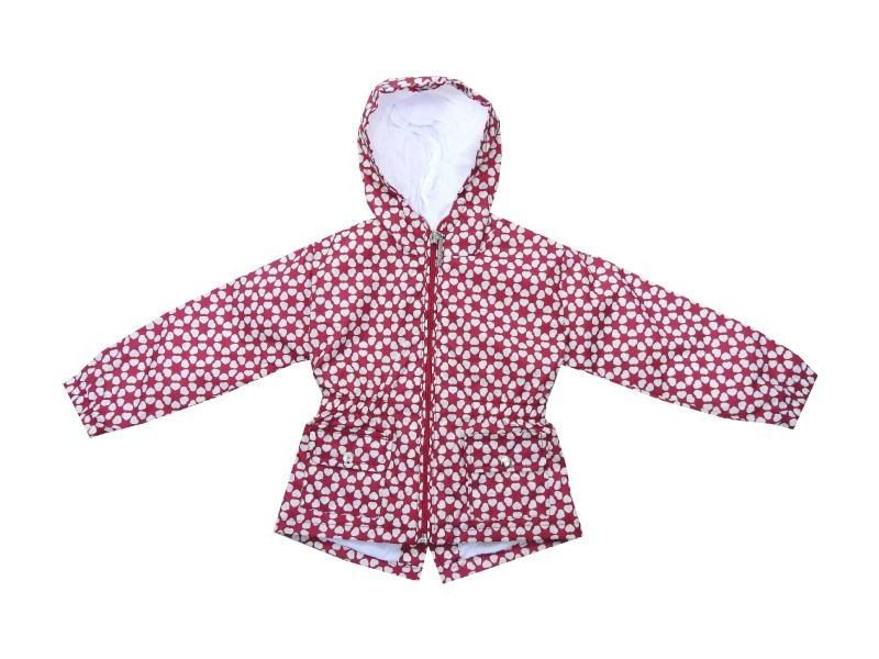 Wholesale hoodie flower embroidery waterproof for girl (1-2-3-4 age)