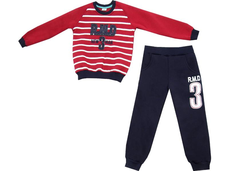 Wholesale ''R.M.D 3'' print sweatsuit double set for boy (5-6-7-8 age)
