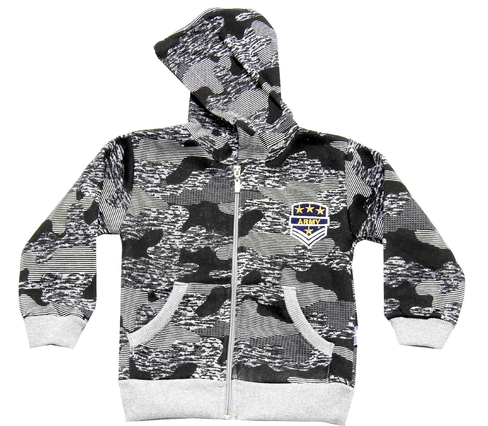 Wholesale knitted camouflage hoodie design sweatshirt for boy (1-2-3-4 age)