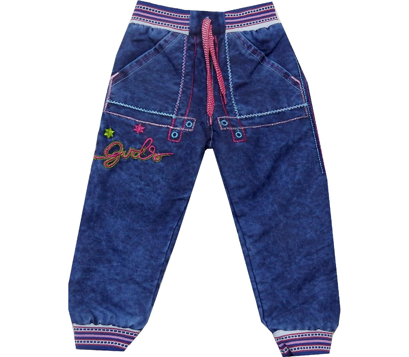 Wholesale ''Girls'' print single jeans pant for girl (5-6-7-8 age)