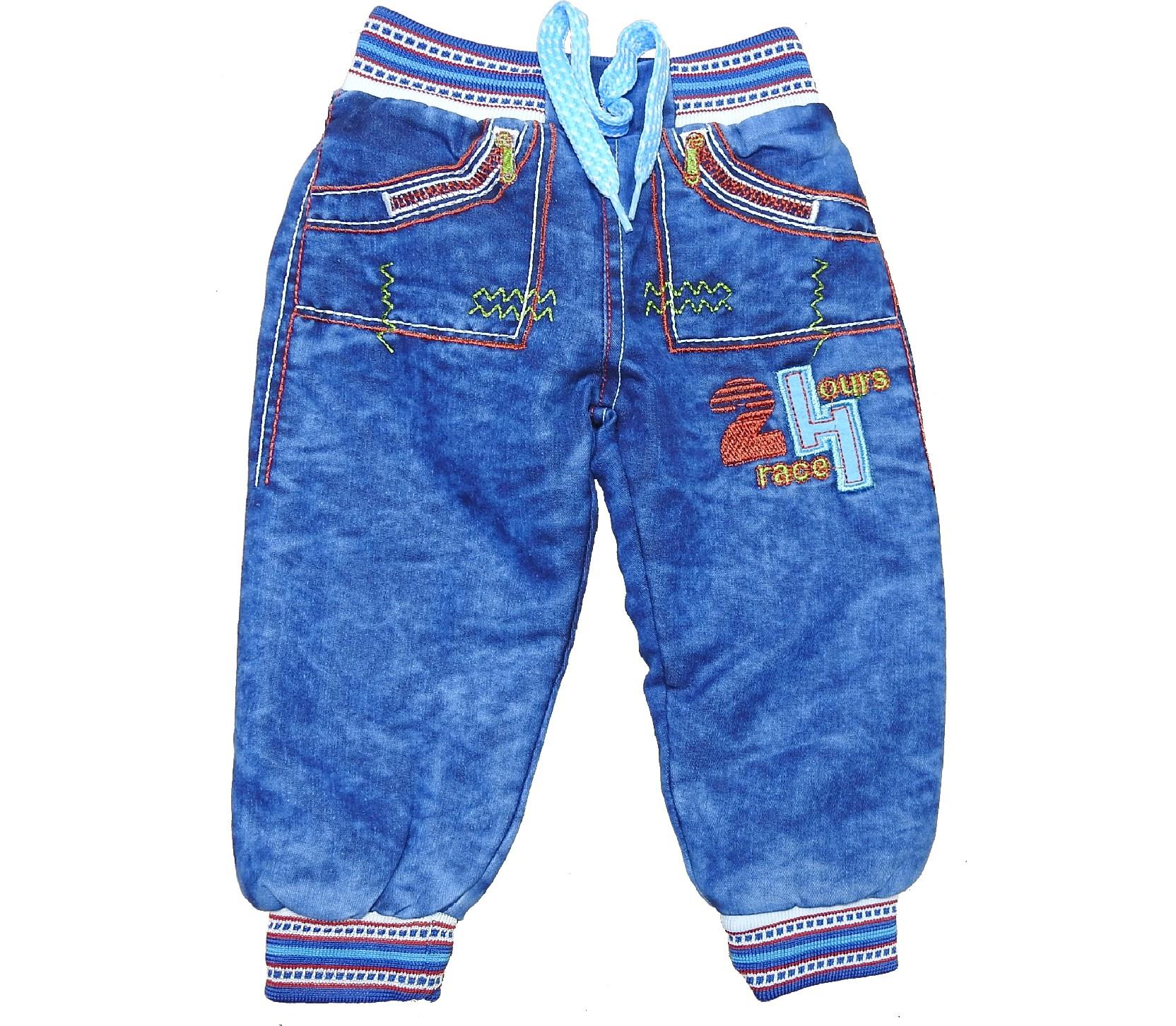 Wholesale 24 printed jeans faux shearling single pant for boy (1-2-3-4 age)
