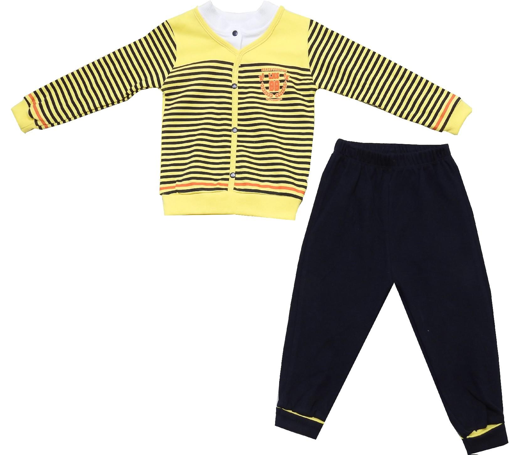 Wholesale striped design swater and trouser double set suit for boy (6-12-18-24 month)