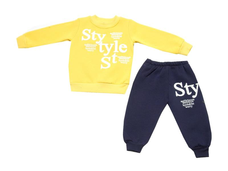 Wholesale variety print assorted sweat and trouser double set tracksuit for girl (3-4-5-6 age)