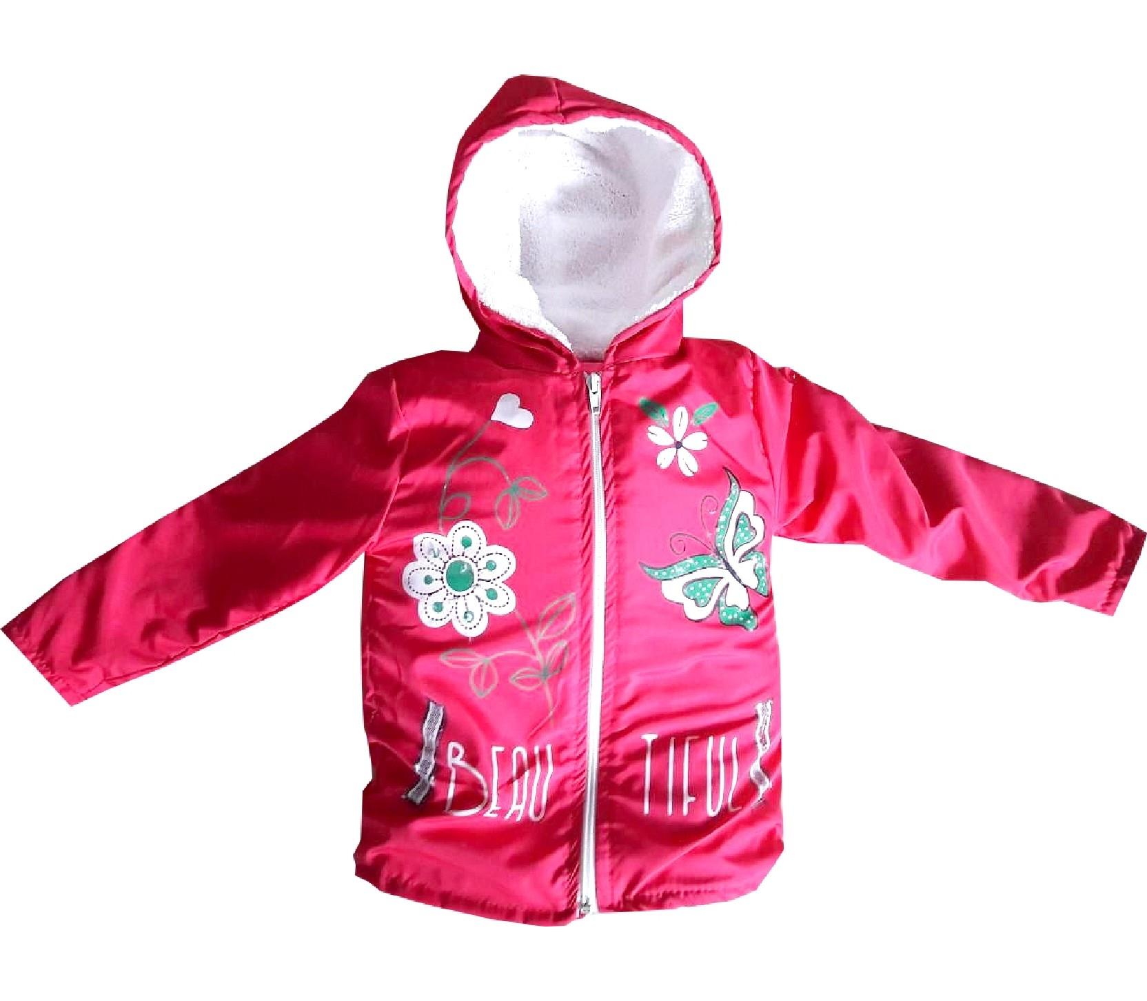 Wholesale faux shearling hooded printed design coat for baby (1-2-3-4 age)