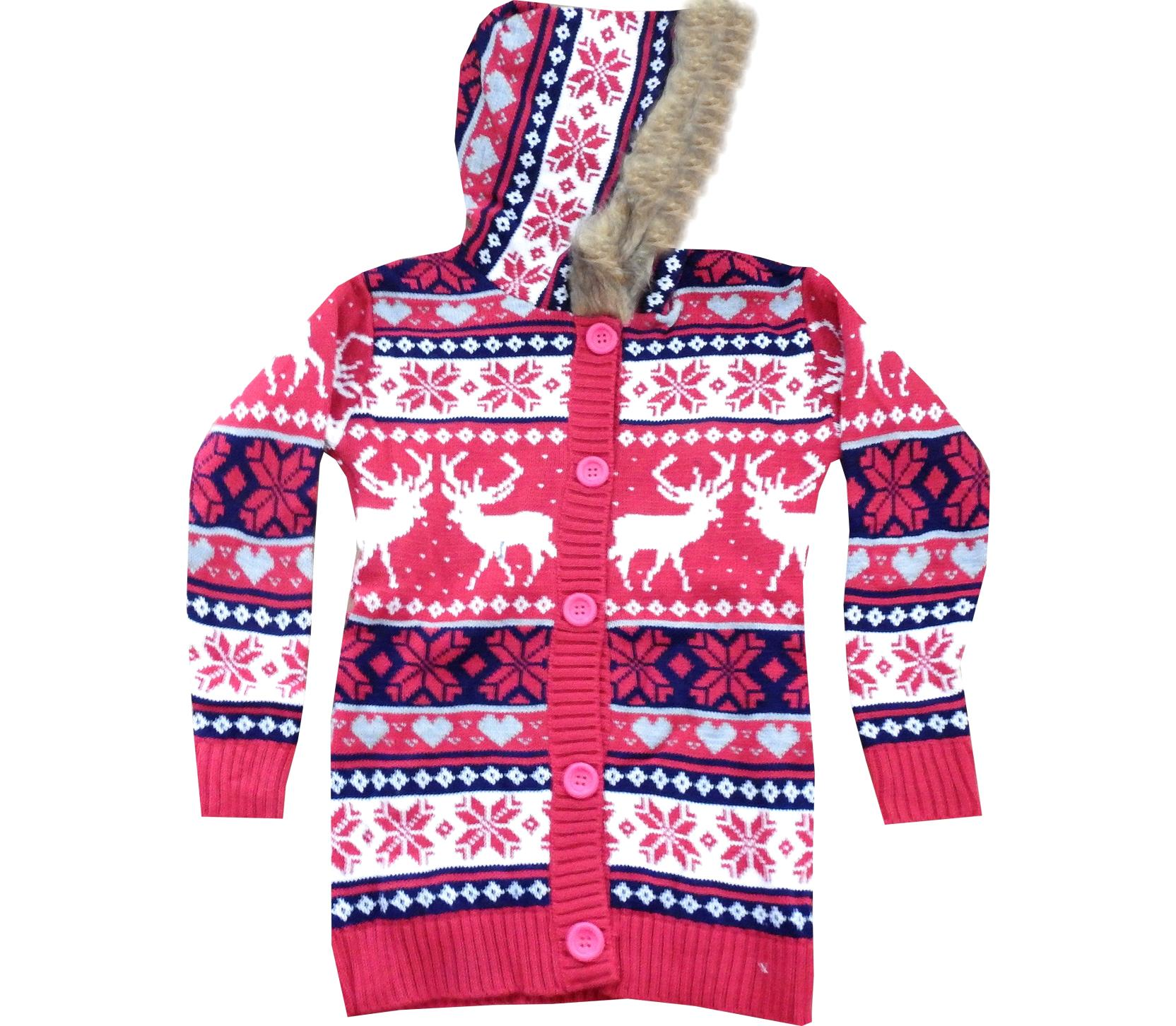Wholesale deer stitched hoodie cardigan for children (5-7-9 age)