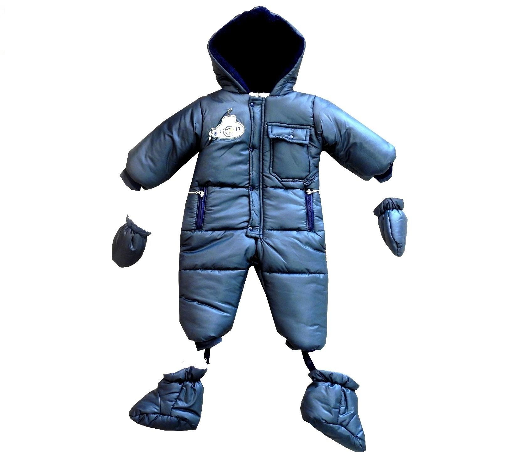 Wholesale quilted hoodie astronaut snowsuit for boy (6-9-12 month)