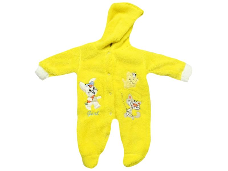 168 wholesale faux shearling hooded romper for baby (6-9 month)