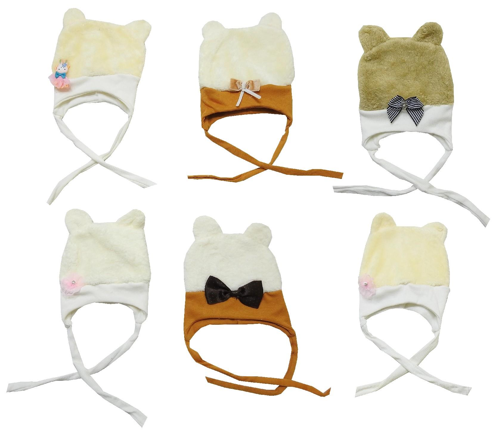 Wholesale ears beanies for baby 6 pieces in package