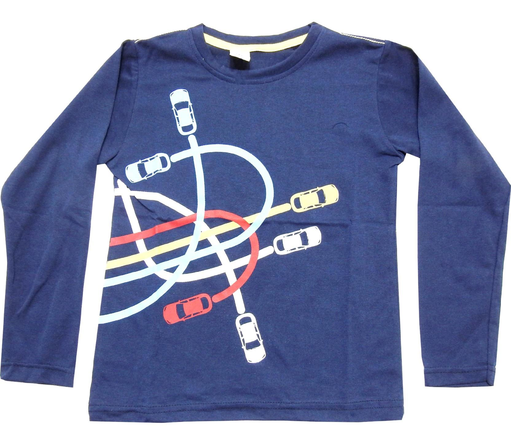 Wholesale car print long sleeve t-shirt for boy (5-6-7-8 age)