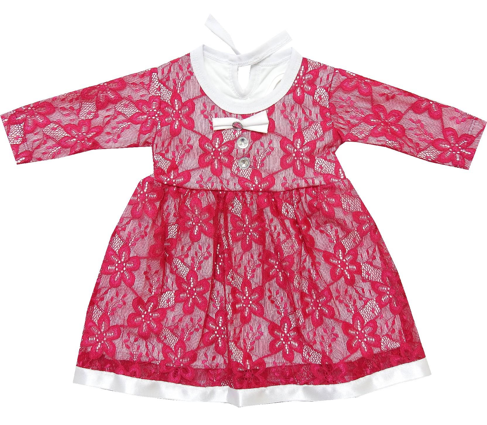 Wholesale lace fabric embroidery dresses for baby girl (3-6-9 month)