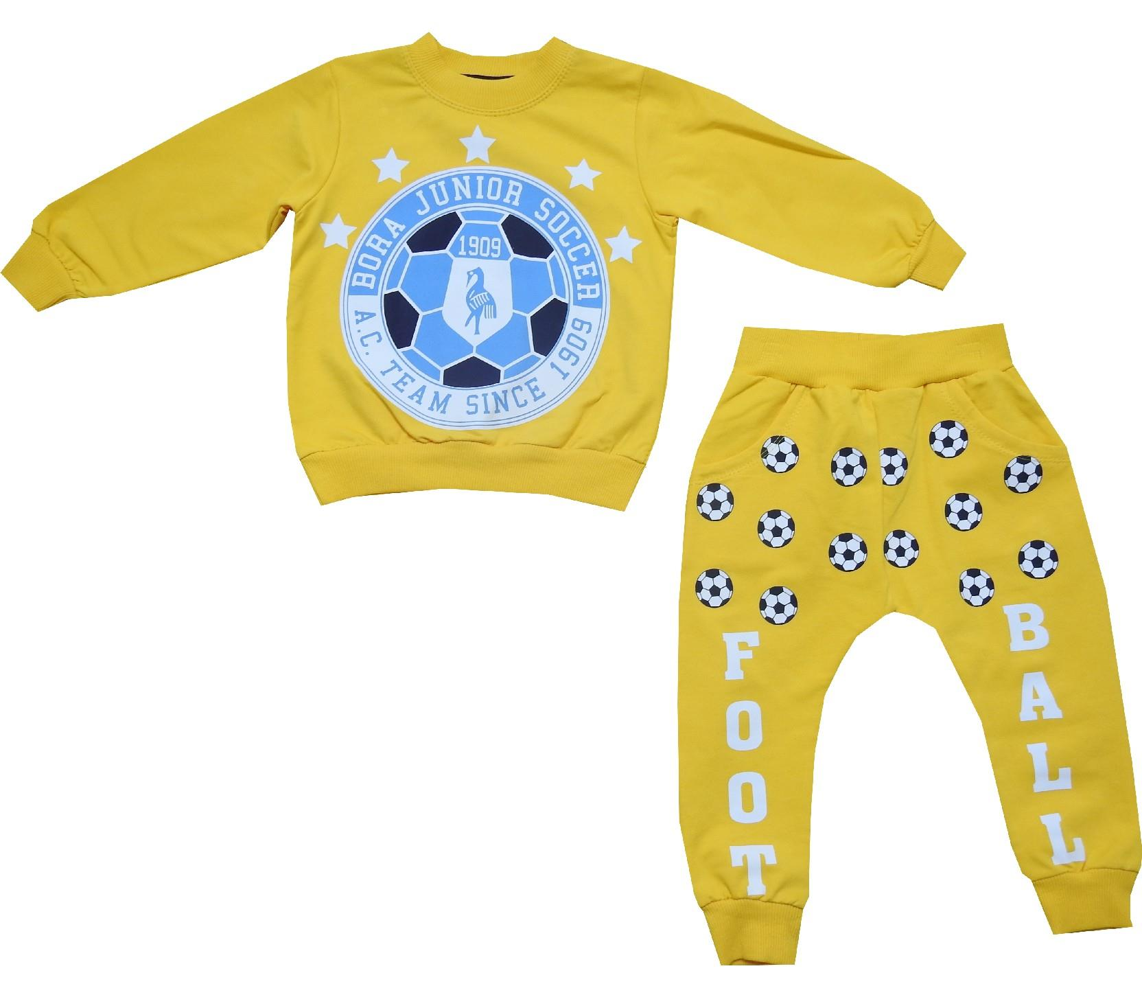 Wholesale football amblem print tracksuit for boy (1-2-3-4 age)
