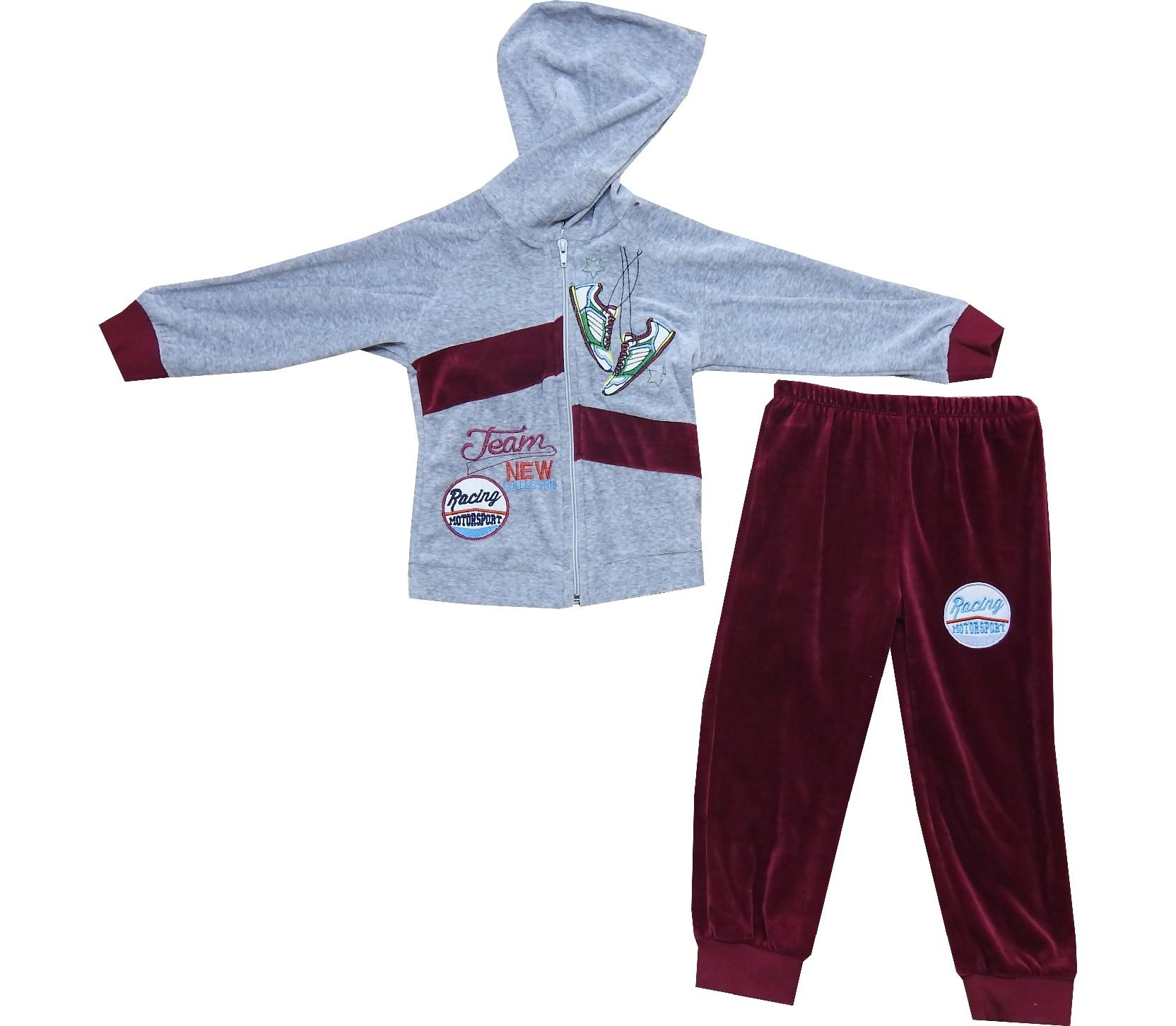 Wholesale sneaker print sweatshirt and trouser tracksuit for boy (2-3-4-5 age)