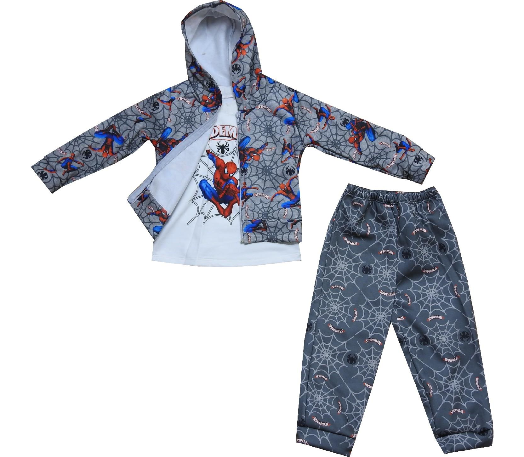 Wholesale spiderman embroidery sweatshirt,t-shirt, and trouser tracksuit for boy (1-2-3-4 age)