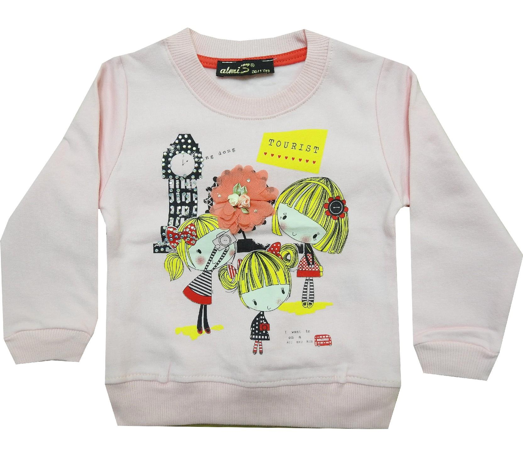 Wholesale girl print sweat for girl (1-2-3-4 age)