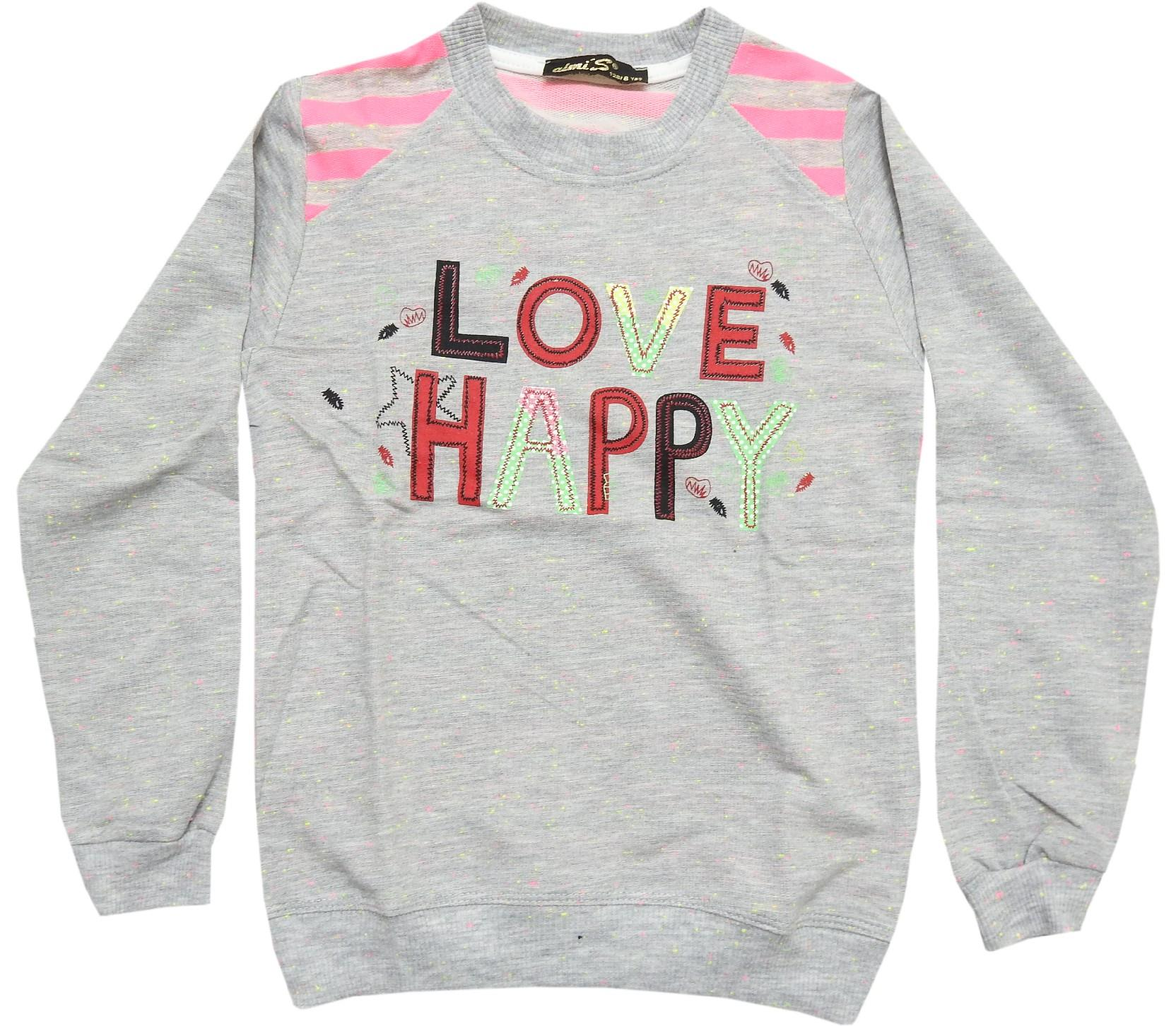 67643 wholesale love happy printed sweat for girl (5-6-7-8 age)