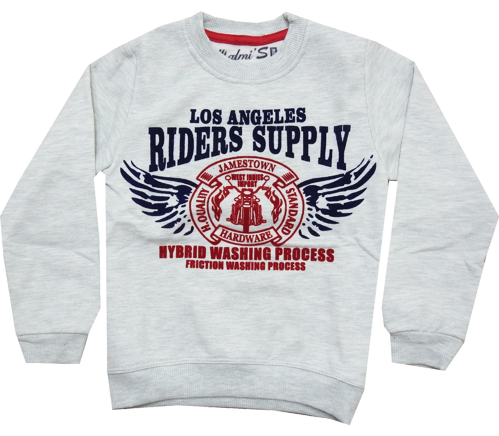 Wholesale ''riders supply'' print sweat for boy (5-6-7-8 age)