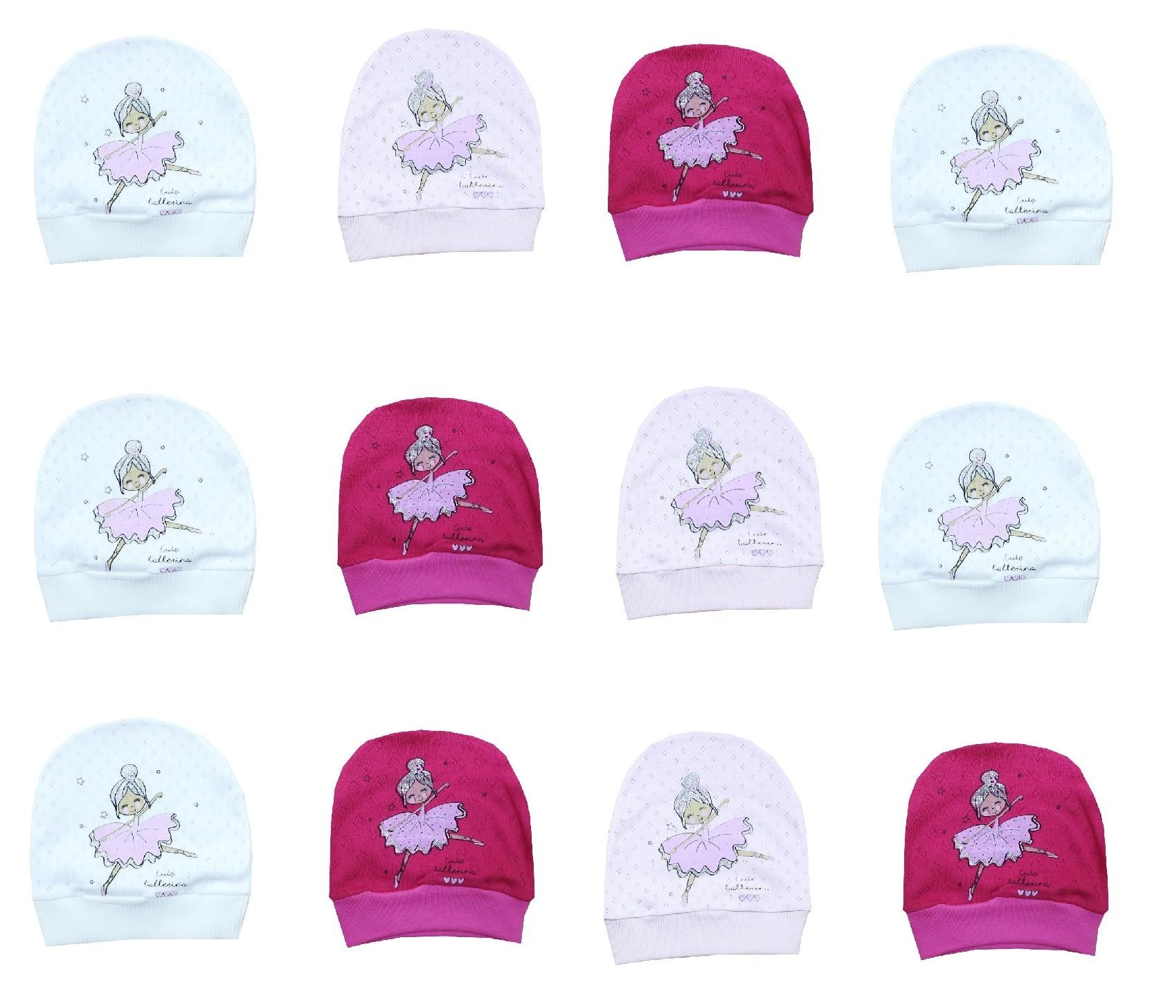 Wholesale balerine print beanies for baby 12 pieces in package