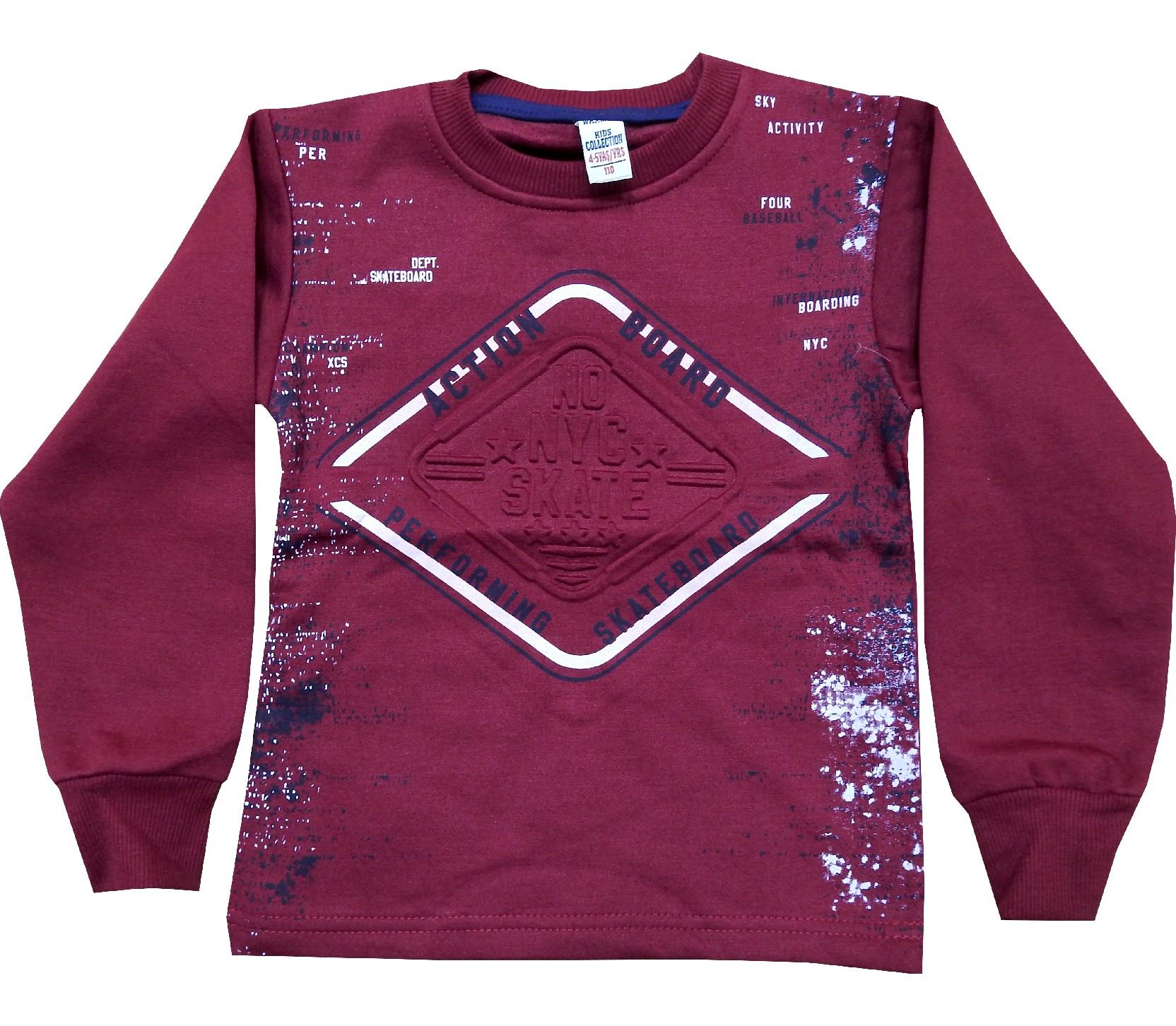 Wholesale ''NO NYC SKATE'' print sweat for boy (5-6-7-8-9 age)