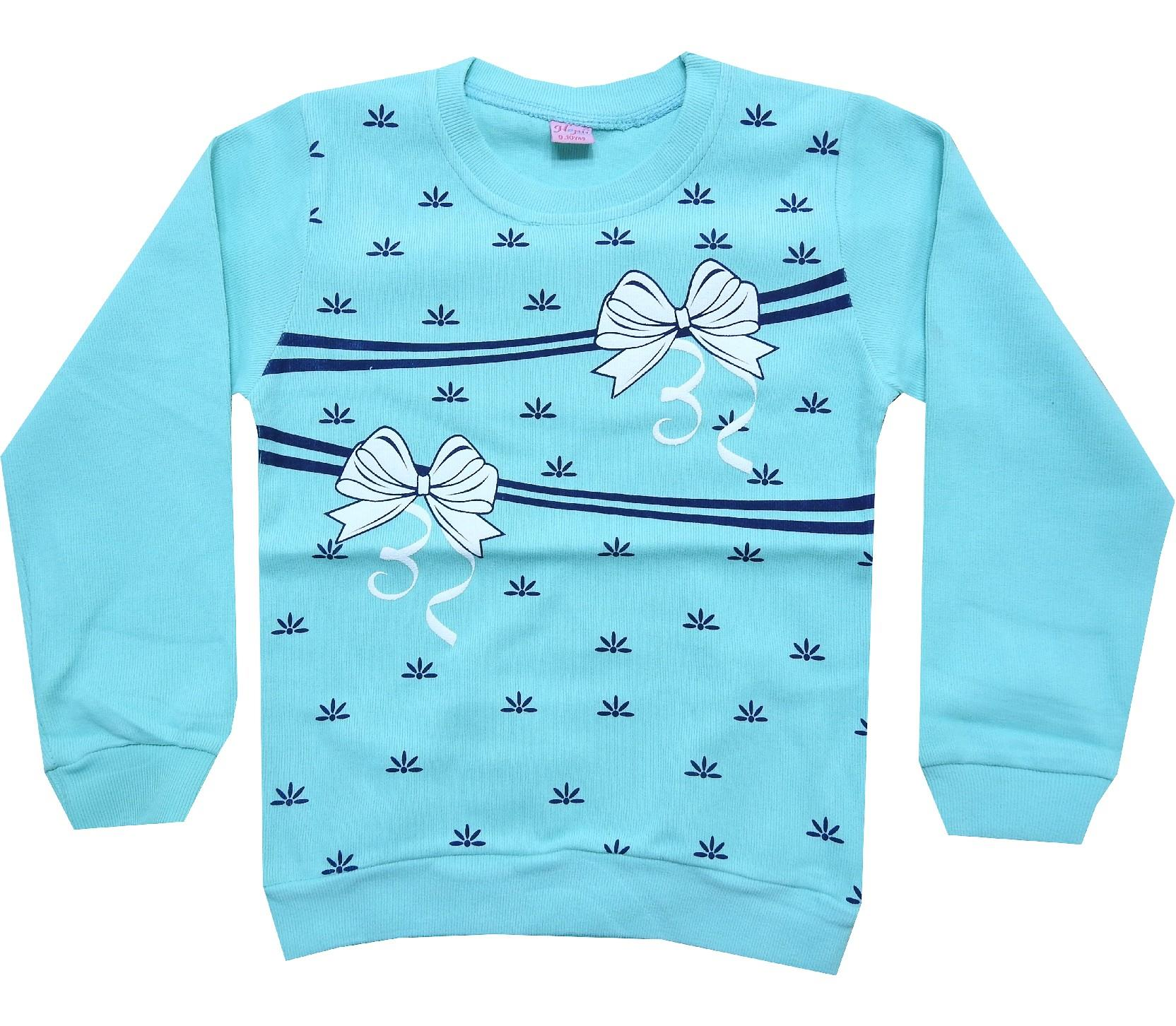 Wholesale bow tie print sweat for girl (5-6-7-8 age)