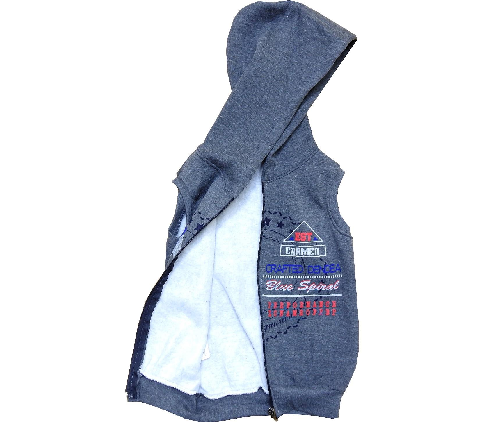 Wholesale hoodie vest for boy (7-8-9-10 age)
