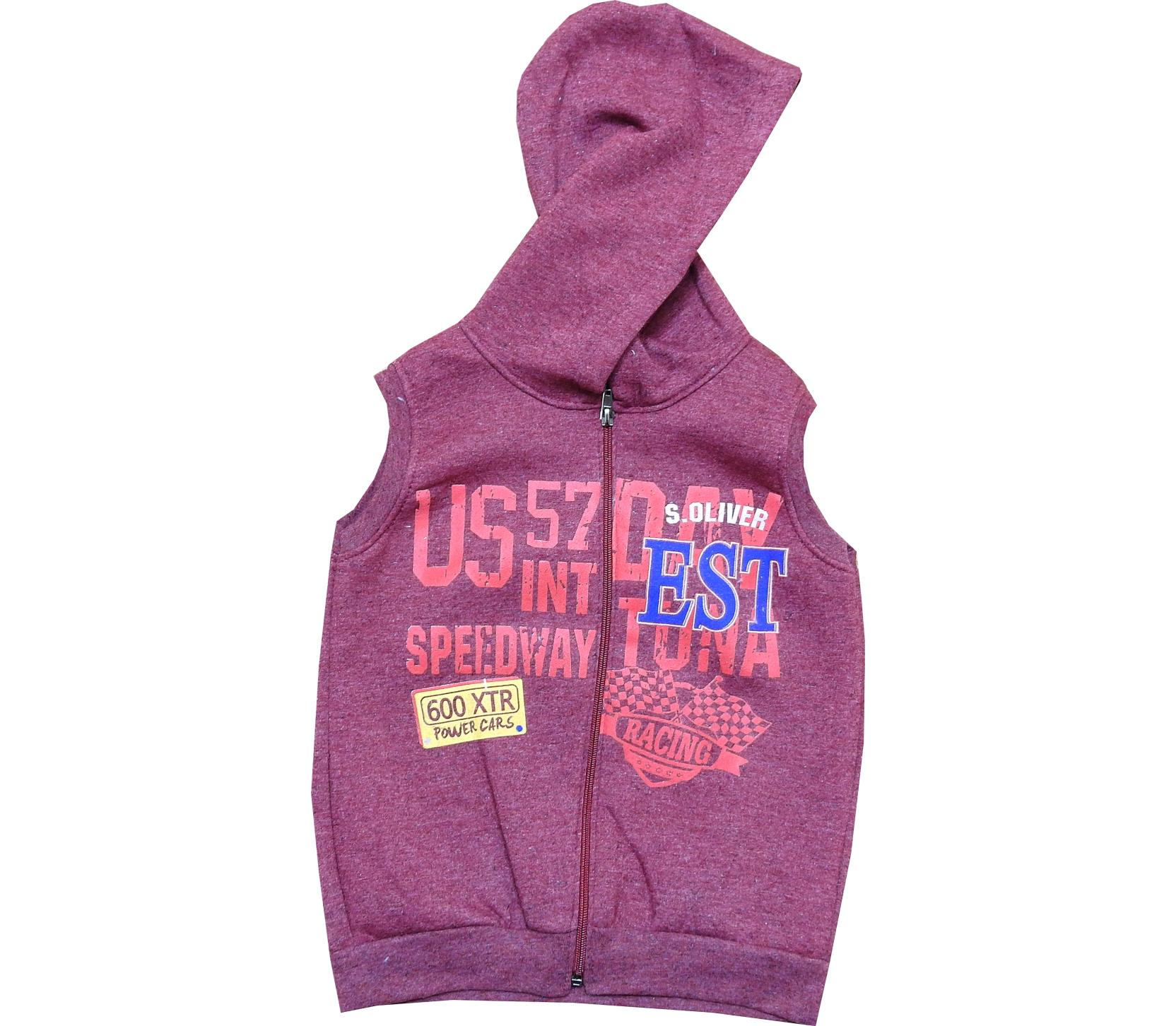 Wholesale hooded vest for boy (7-8-9-10 age)