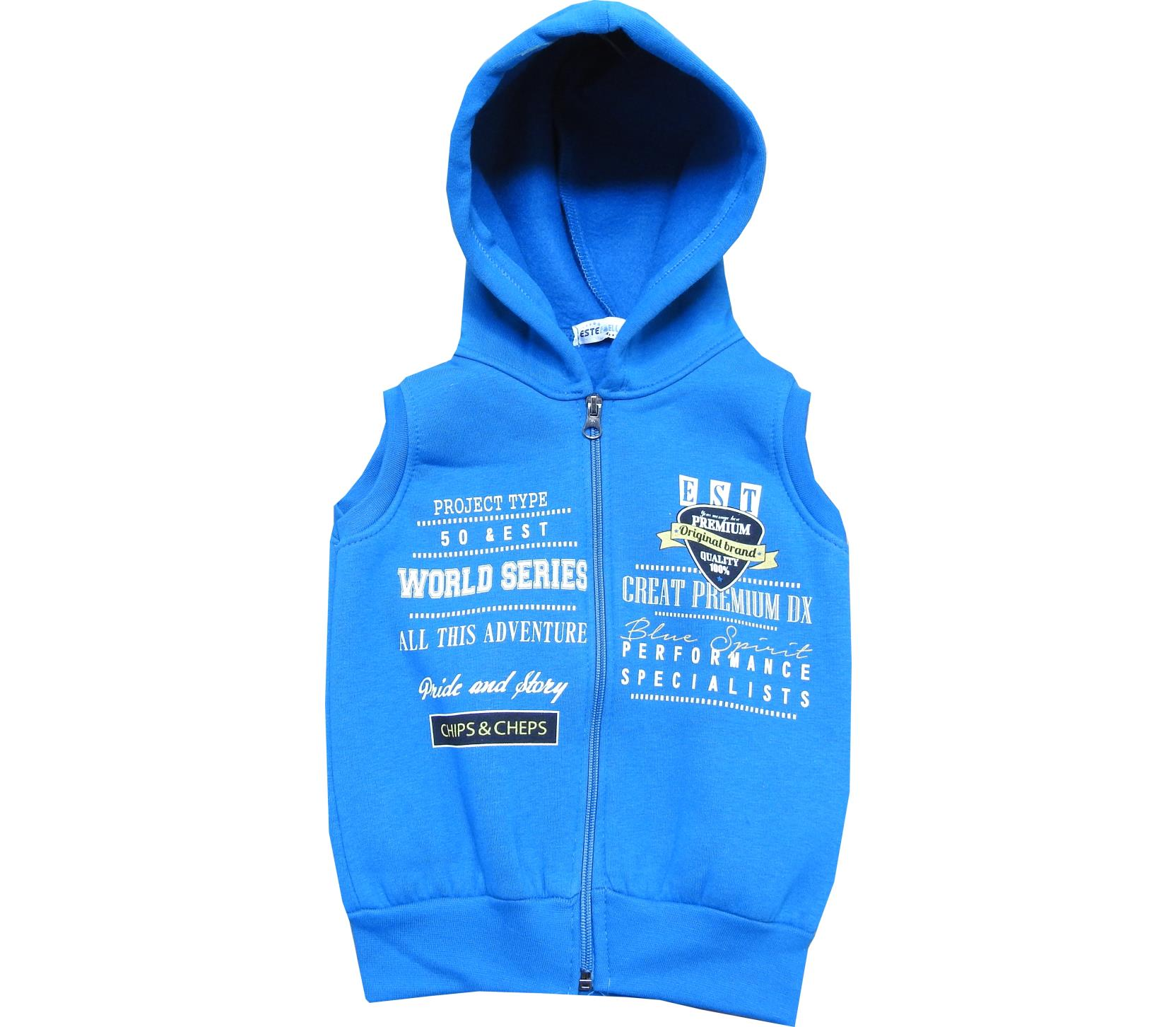 Wholesale hooded vest for boy (3-4-5-6 age)