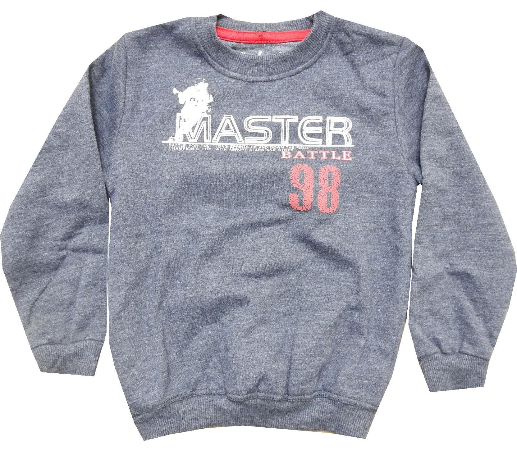 Wholesale ''MASTER 98'' printed sweat for boy (1-2-3-4 age)