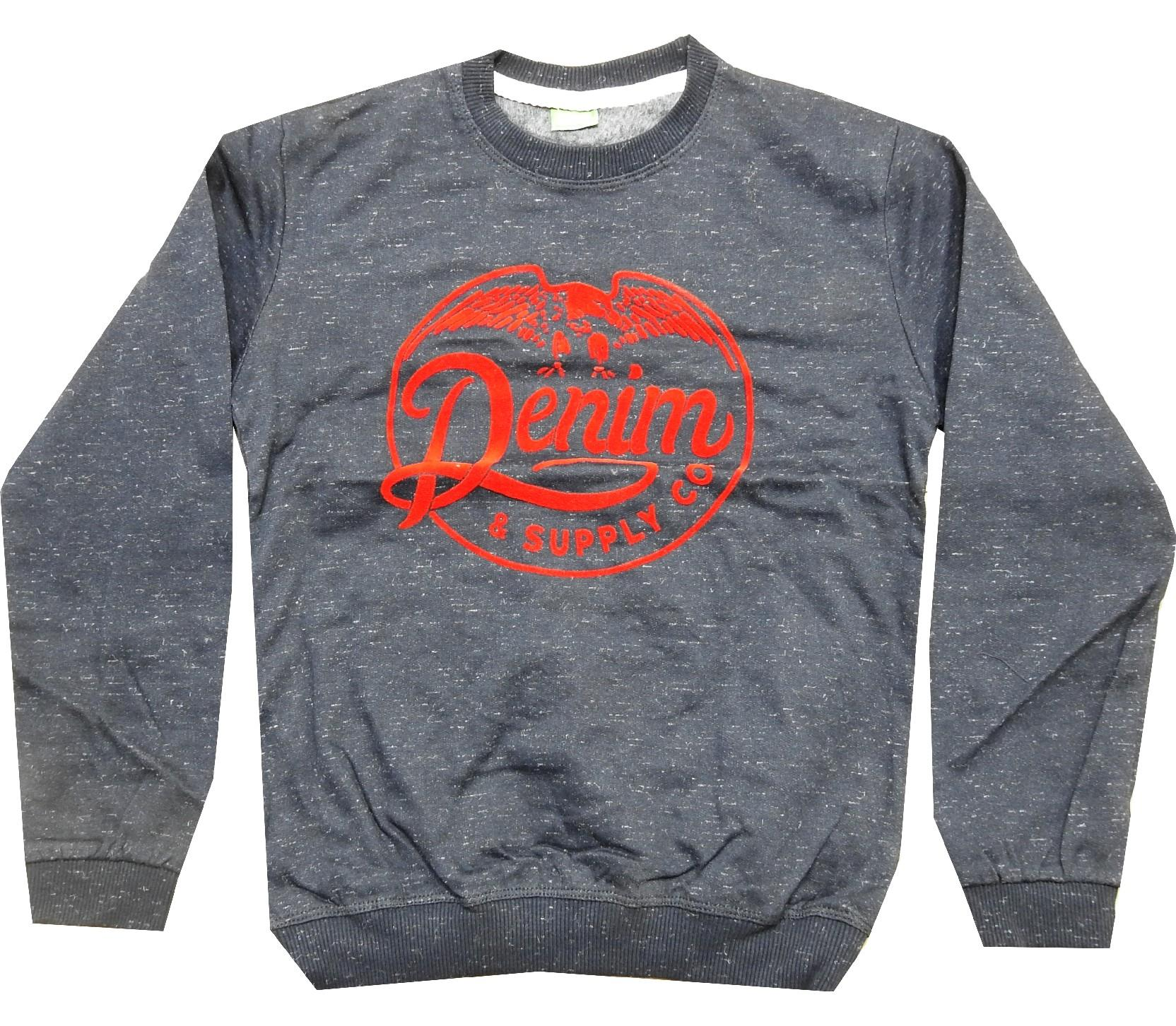 Wholesale ''denim'' print sweat for boy (9-10-11-12 age)