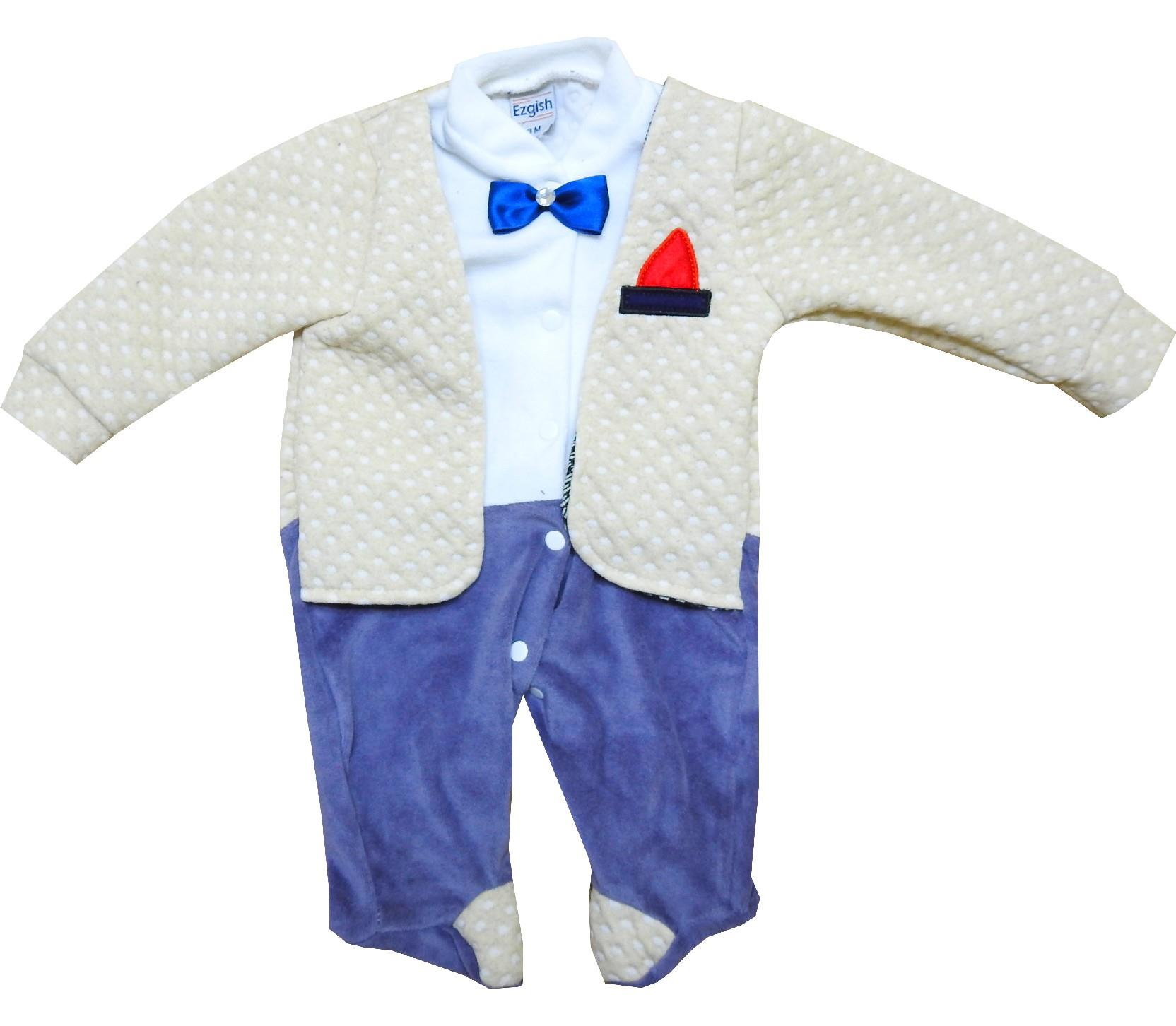 Wholesale star embroidery romper for boy (3-6-9 month)
