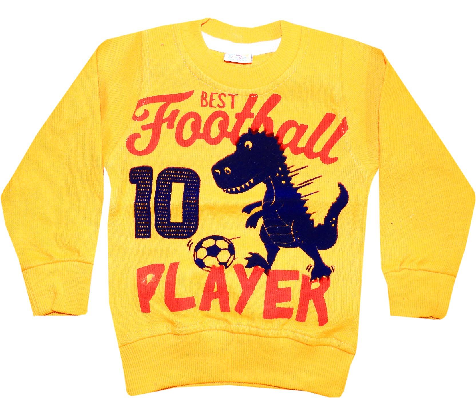 Wholesale ''football player'' print sweat for kids (1-2-3-4-5 age)