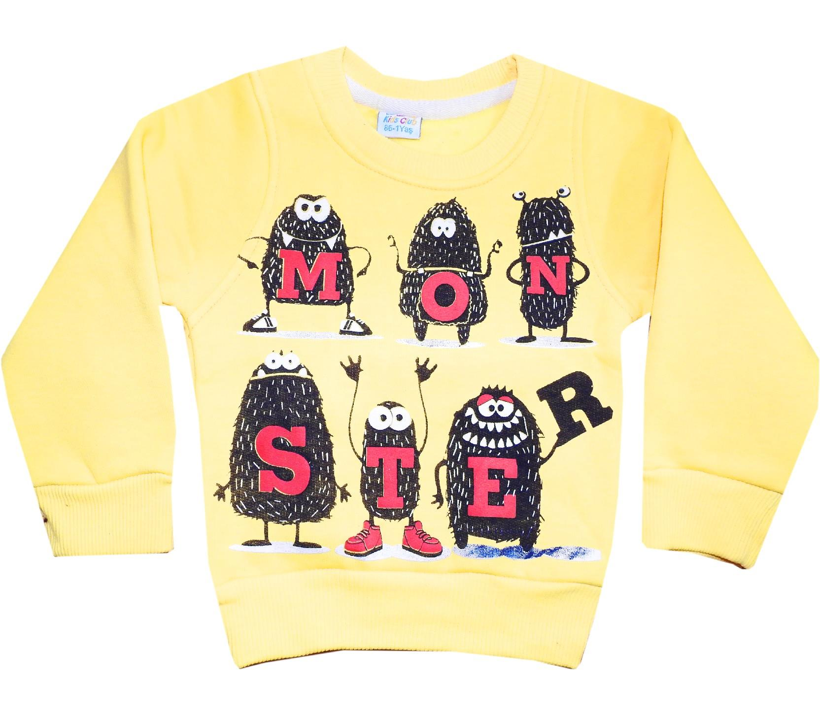 Wholesale ''MONSTER'' print sweats for childs (1-2-3-4-5 age)