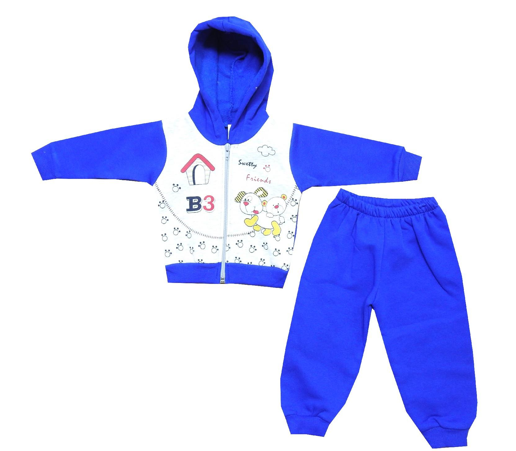 Wholesale ''B3'' printed hooded tracksuit for boy (6-9-12 month)