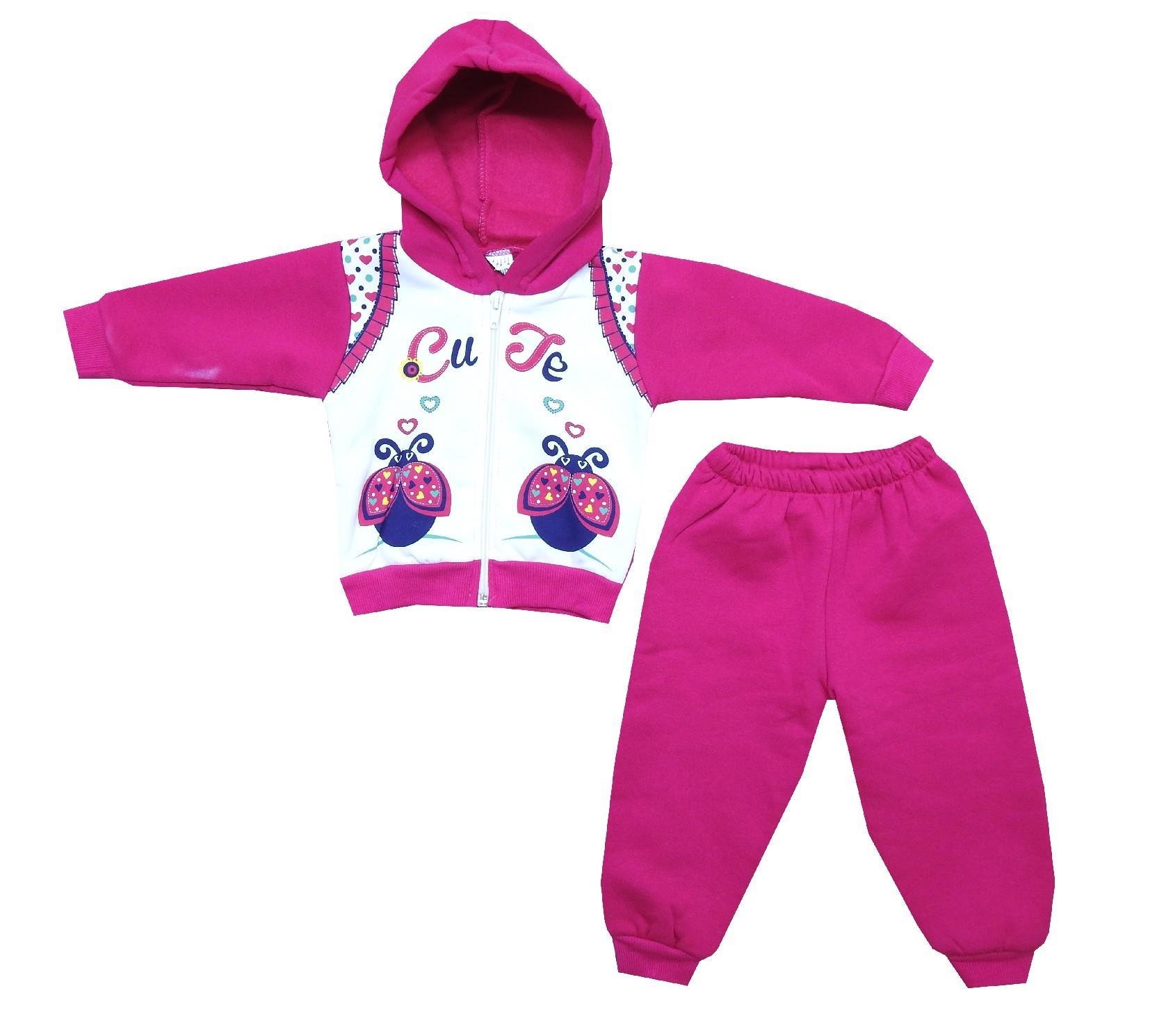 Wholesale ''cute'' print hooded tracksuit for girl (6-9-12 month)
